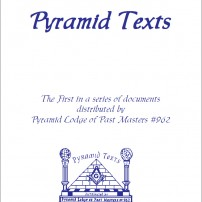 ГРАДЕЖ: Pyramid Texts by Pyramid Lodge of Past Masters #962 – part 1 Δ