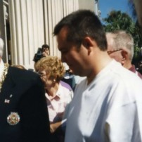(20011003) Official opening of Bicentennial Monument in Charleston, South Carolina, USA
