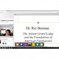 (20201002) Цикъл лекции на ВЛ Калифорния: Великата Древна Ложа и основите на американското масонство