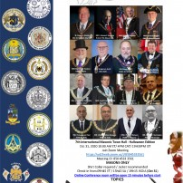 COMING SOON: Oct 31, 2020: The Seventh International Masonic Town Hall