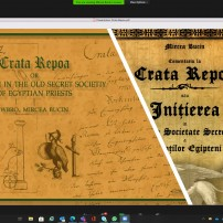 (20201021) Virtual Order Of Sapere Aude: Crata Repoa, egyptian initiation into the High Priesthood by Bro. Mircea Bucin