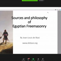 (20201028) Virtual Order Of Sapere Aude: Sources and philosophy of Egyptian Freemasonry by Bro. Jean-Louis de Biasi