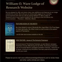 (20201016) What's New at the William O. Ware Lodge of Research Website