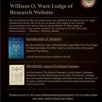(20201016) ВЛ на Кентъки: Какво ново на сайта на изследователската ложа Уилям О. Уеър