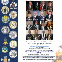 COMING SOON: Nov 21, 2020: The 8th International Masonic Town Hall
