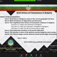 (20201101) Virtual order Sapere Aude: Sapere Aude 104: Plamen Mateev and Dimiter Mandradjiev: Brief History of Freemasonry in Bulgaria (+VID)