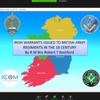 (20201106) Virtual order Sapere Aude: Sapere Aude 107: RW Bro Robert Bashford: The Story of Irish Travelling Military Warrants