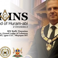 (20201104) GL South Africa:MW Raffy Timonian - Grand Master, Grand Lodge of Lebanon - Legend of Huram-abi