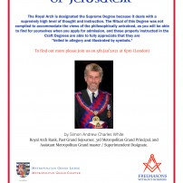 (20210105) Freemasons without Borders: RW Bro. Simon Andrew Charles White: The Holy Royal Arch of Jerusalem