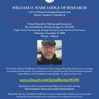 (20210108) What's New at the William O. Ware Lodge of Research Website