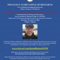 (20210108) ВЛ на Кентъки: Какво ново на сайта на изследователската ложа Уилям О. Уеър