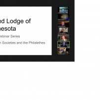 (20210203) Regular and active participation in the Webinar Series of Grand Lodge of Minnesota: Masonic Research Societies and the Philalethes (+GAL)